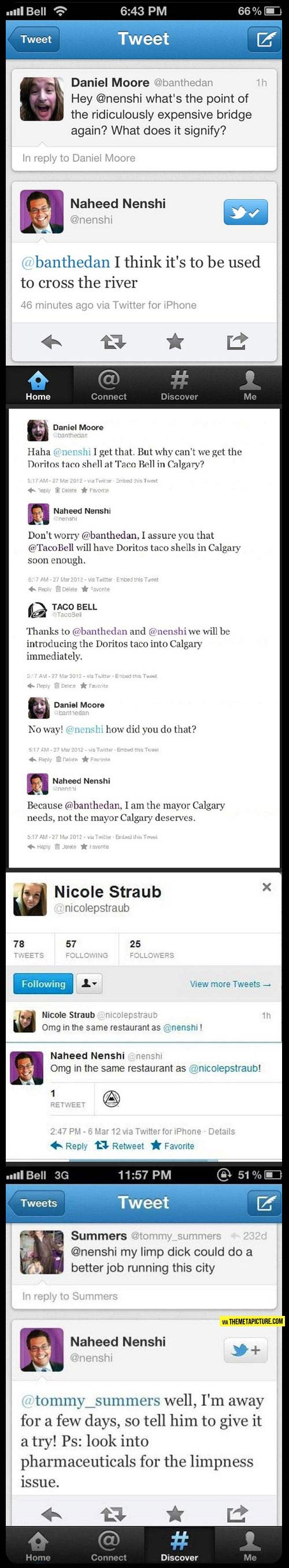 The mayor of Calgary, Alberta is awesome…