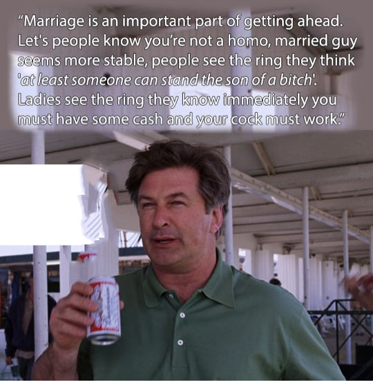 Marriage is an important part of getting ahead…