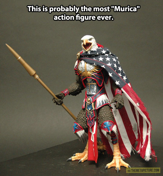 The most 'Murica action figure…