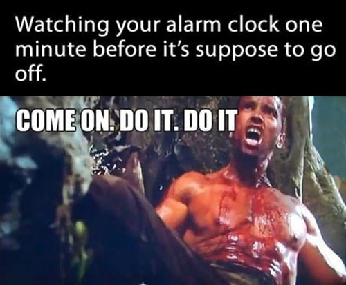 Before the alarm goes off…