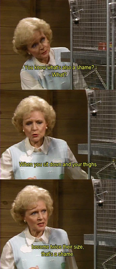 Betty White knows when to say the right words…