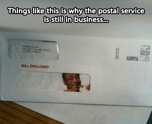 Why the postal service is still in business…