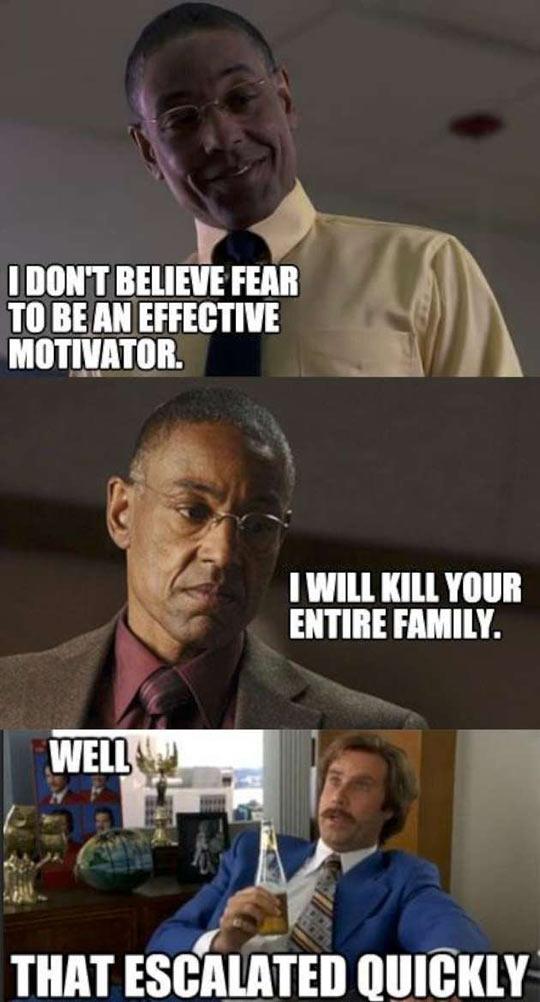 Fear is not an effective motivator…