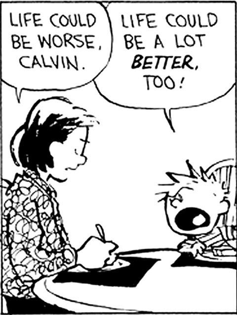 Calvin makes a good point…
