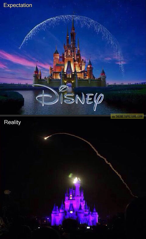 Disney: expectation vs. reality…