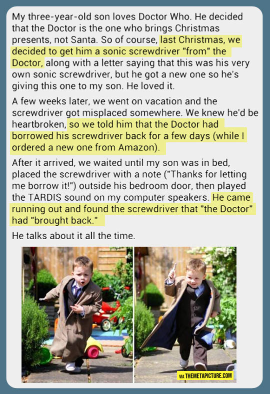 Some parents are just plain awesome…