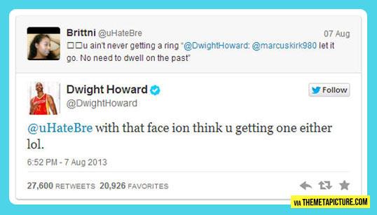 Dwight Howard owns Twitter troll…