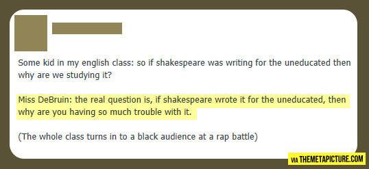 Teacher has a point...