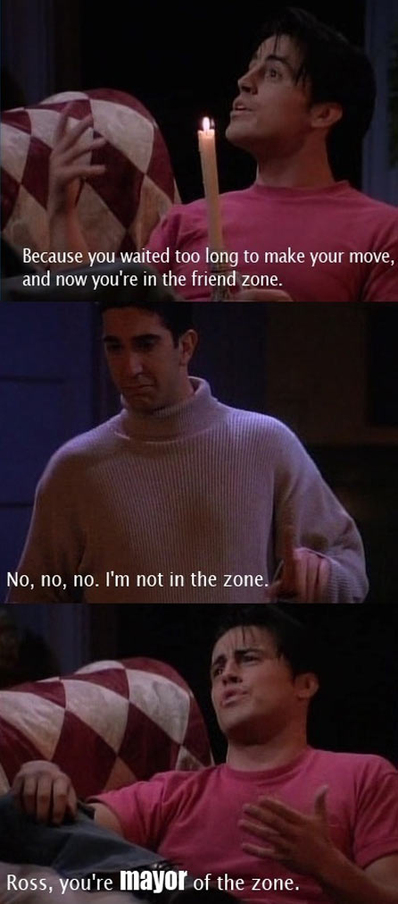 And now you're in the friend zone…