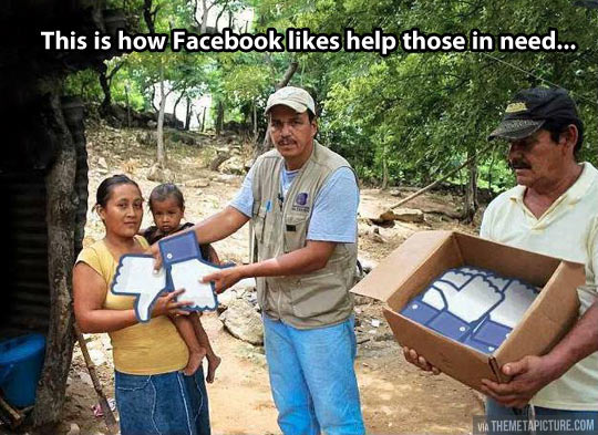How Facebook helps those in need…