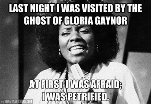 Last night Gloria visited me…