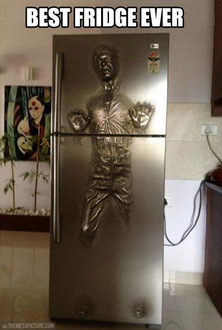 Han Solo Carbonite fridge…