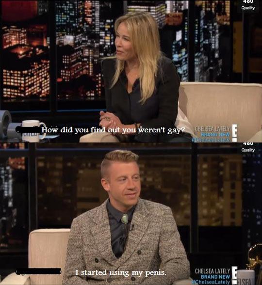 Chelsey Handler speaks with Macklemore…