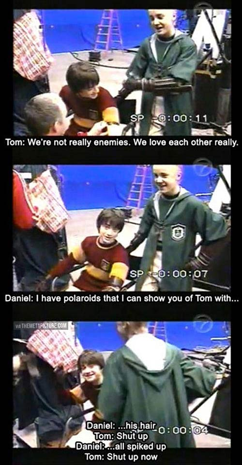Harry potter had the best behind the scenes…