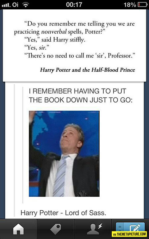 Well played, Harry…