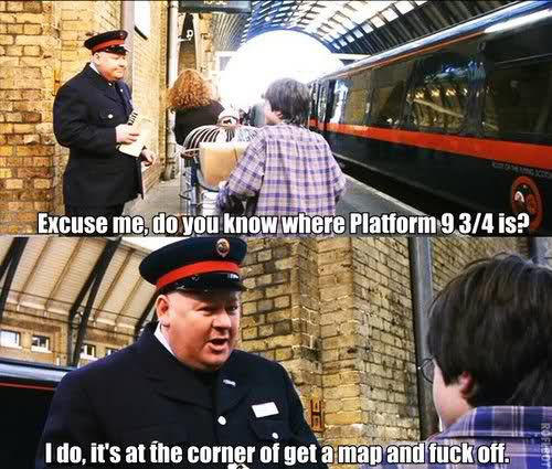 Harry is lost…