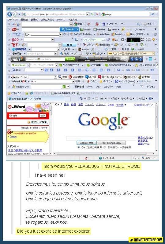 Exorcising Internet Explorer…
