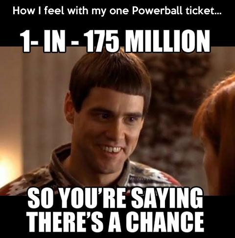 One in 175 million…