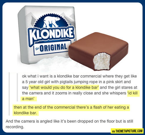 This would make me buy all of the Klondike bars…