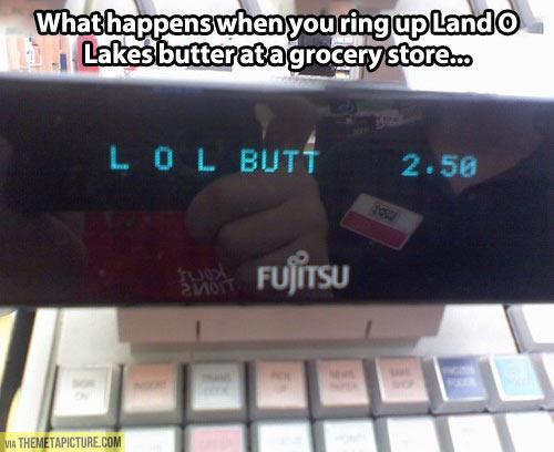 Buying Land O'Lakes butter…