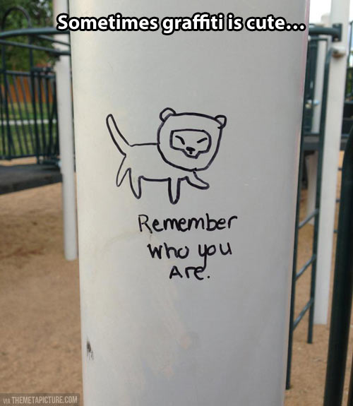 When graffiti is cute…