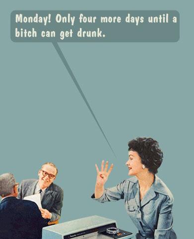 funny-Monday-four-days-drunk-woman