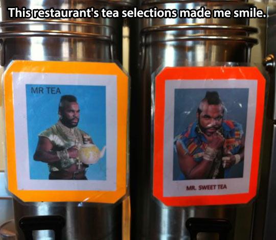 Special tea selection…