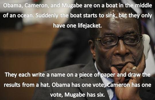 Robert Mugabe joke…