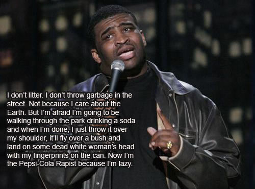 Patrice O'Neal on littering…
