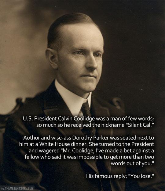 My favorite presidential anecdote…