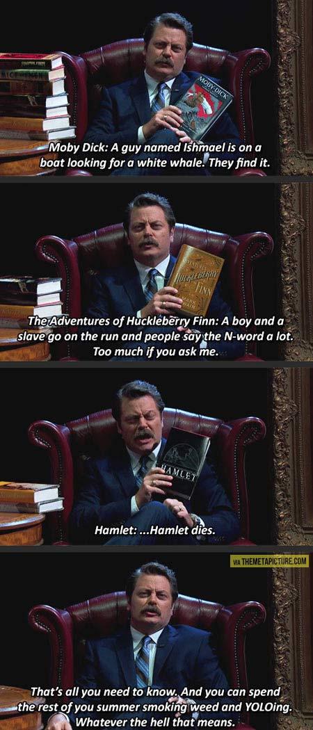 Ron Swanson's book spoilers…