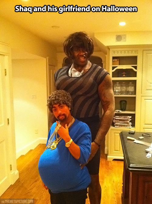 Fabulous Shaq and his girlfriend…