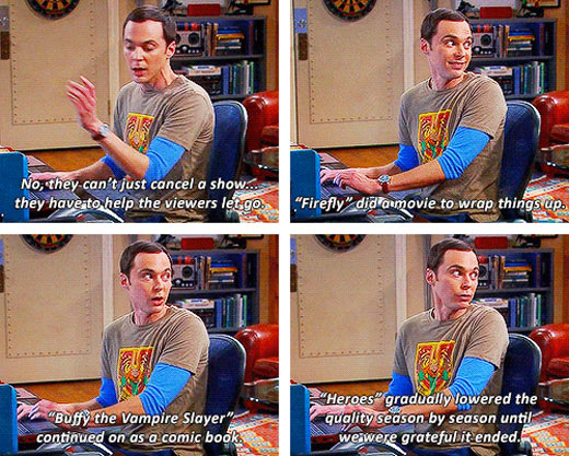 Sheldon explaining fandom life…