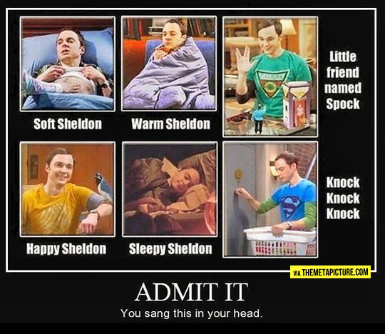 Soft Sheldon, warm Sheldon…