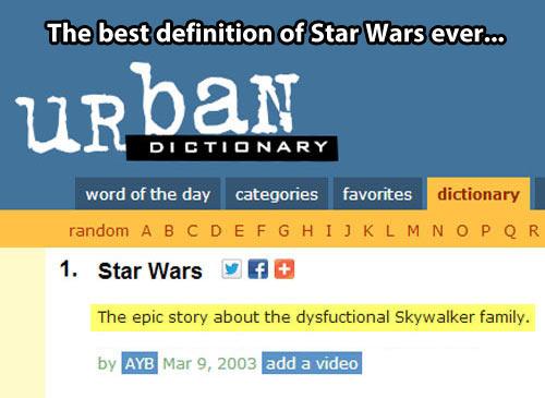 Urban Dictionary on Star Wars…