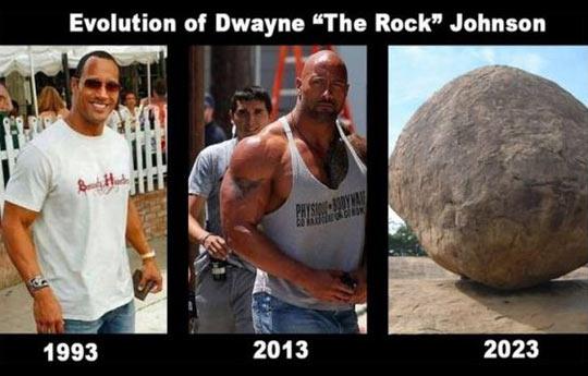 The evolution of Dwayne Johnson…