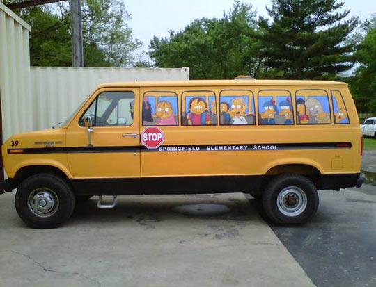Simpsons bus made from van…