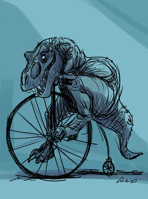 funny-Trex-ride-bike-old