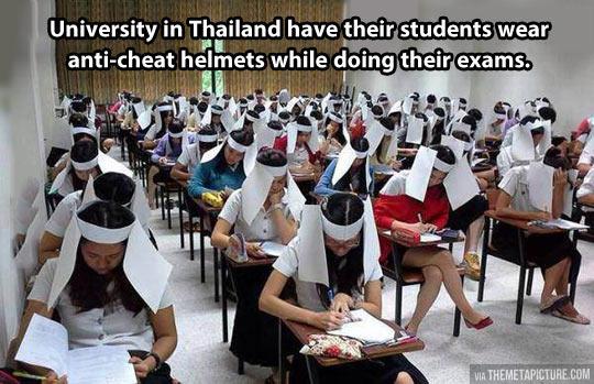 The anti-cheat helmet…