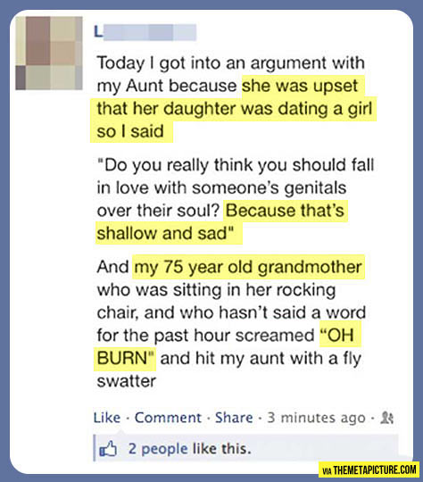Way to go, grandma…