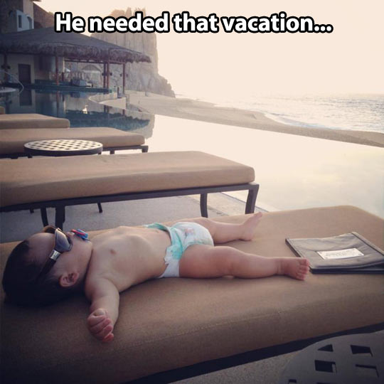 Well-deserved vacation…