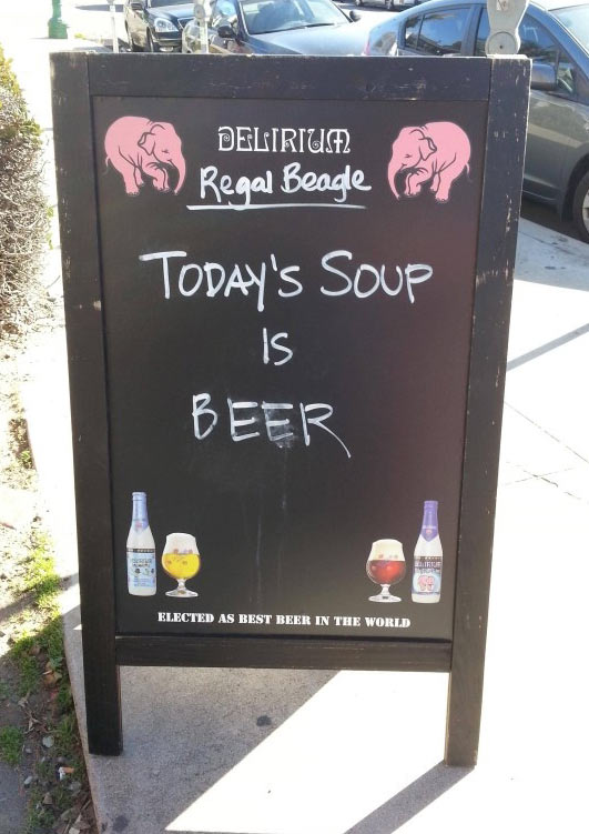 Today's special soup…
