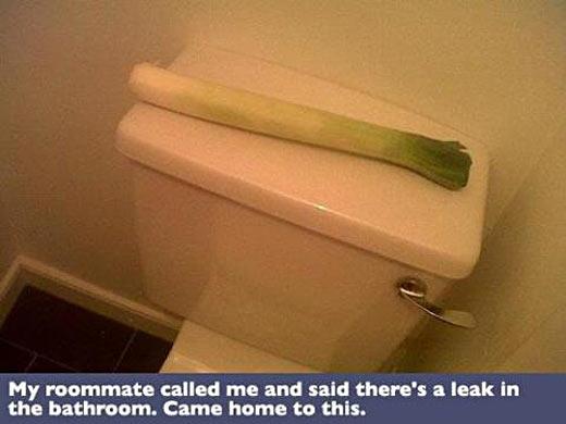 A leak in the bathroom…