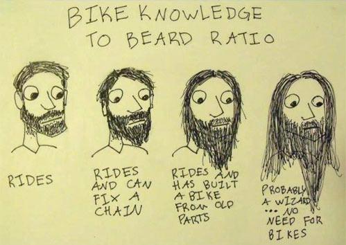 Bike knowledge to beard ratio…