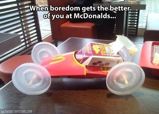Bored at McDonald's…