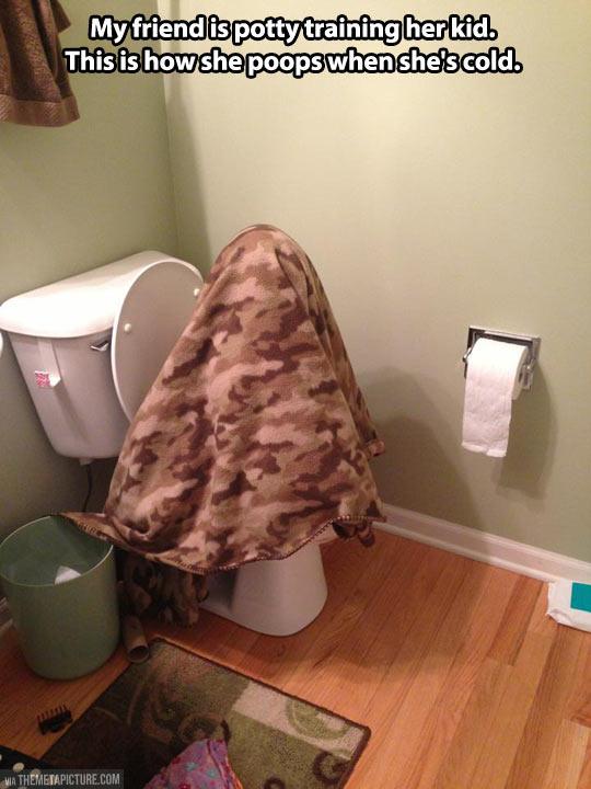 My friend potty training her kid…