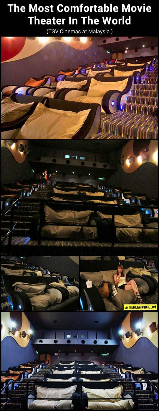 The most comfortable movie theater…