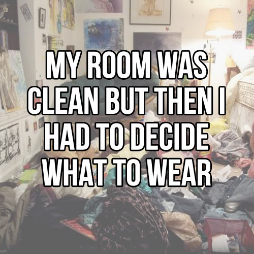 It was clean at first…