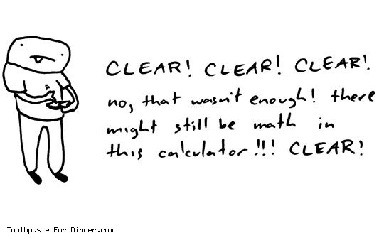 Clearing a calculator…