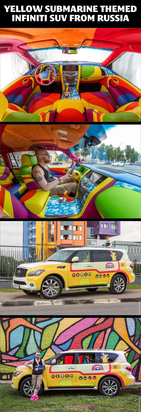 Yellow Submarine themed Infiniti SUV…